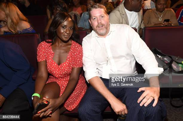 Director Mark Ford and producer Esther Dere attend the screening of AE 'Biography Presents Biggie The Life Of Notorious BIG' at DGA Theater on August...