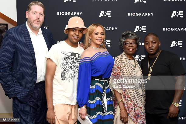 Director Mark Ford CJ Wallace Faith Evans Voletta Wallace and Lil' Cease attend the screening of AE 'Biography Presents Biggie The Life Of Notorious...