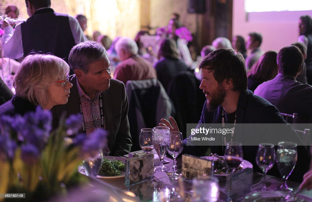 Director Mark Grieco (R) and guests attend An Artist at the Table: Dinner Program during the 2014 Sundance Film Festival at Stein Eriksen Lodge on January 16, 2014 in Park City, Utah.