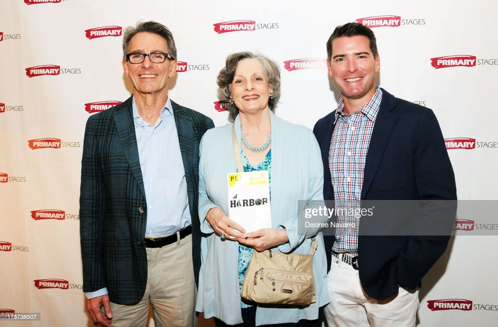 Director Mark Lamos, actress <a gi-track='captionPersonalityLinkClicked' href=/galleries/search?phrase=Dana+Ivey&family=editorial&specificpeople=239012 ng-click='$event.stopPropagation()'>Dana Ivey</a> and playwright Chad Beguelin attend 'Harbor' Opening Night After Party at Park Avenue Armory on August 6, 2013 in New York City.
