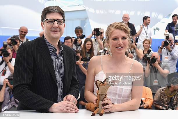 Director Mark Osborne and Charlotte Vandermeersch attend a photocall for 'The Little Prince' during the 68th annual Cannes Film Festival on May 22...