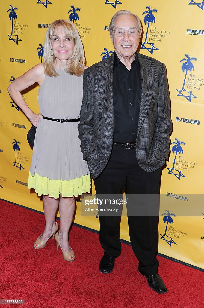 Director Mark Rydell and a guest arrive at the 9th Annual Los Angeles Jewish Film Festival Opening Night Gala honoring Carl Reiner with tributes at Saban Theatre on May 1, 2014 in Beverly Hills, California.