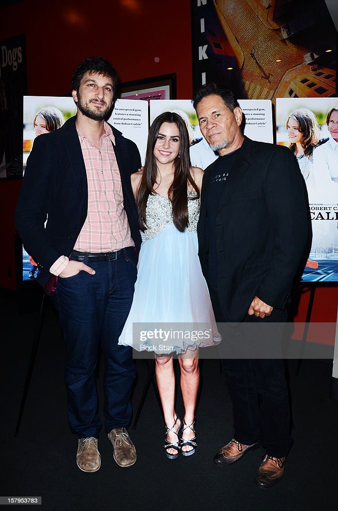 Director Marshall Dewy, actress Savannah Lathem and actor A. Maritnez arrive at 'California Solo' Los Angeles premiere at the Nuart Theatre on December 7, 2012 in West Los Angeles, California.