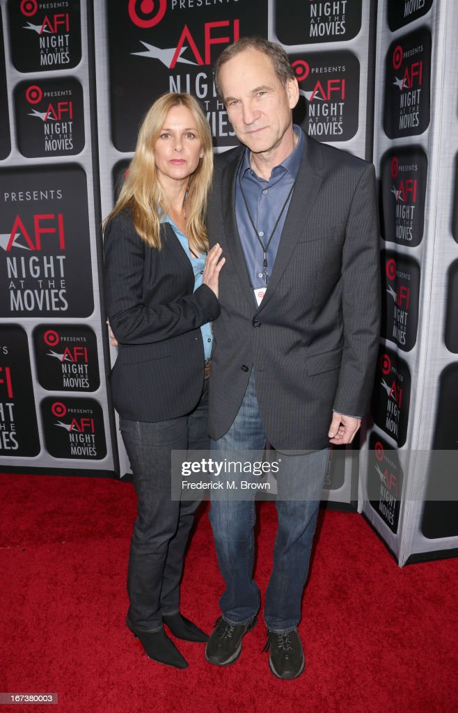 Director Marshall Herskovitz (R) arrives on the red carpet for Target Presents AFI's Night at the Movies at ArcLight Cinemas on April 24, 2013 in Hollywood, California.