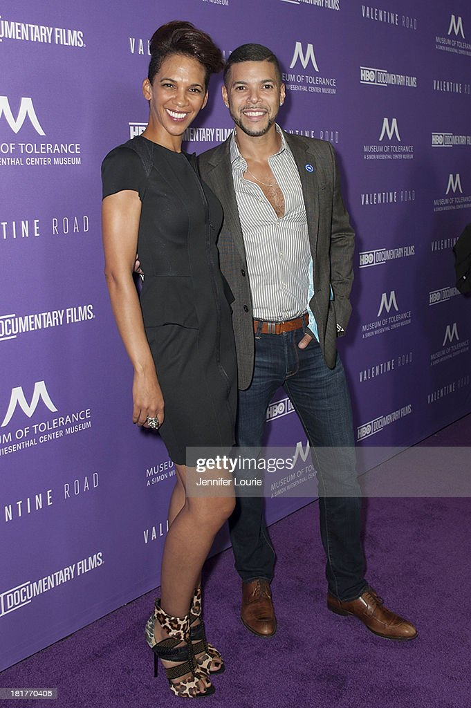 Director Marta Cunningham and actor <a gi-track='captionPersonalityLinkClicked' href=/galleries/search?phrase=Wilson+Cruz&family=editorial&specificpeople=660625 ng-click='$event.stopPropagation()'>Wilson Cruz</a> attend the Los Angeles premiere screening of 'Valentine Road' at The Museum of Tolerance on September 24, 2013 in Los Angeles, California.