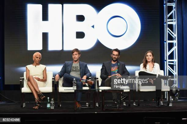 Director Marta Cunningham executive producers Mark Duplass Jay Duplass and director Sarah Adina Smith speak onstage during the HBO Summer TCA 2017 at...
