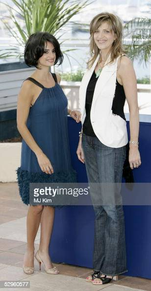 Director Martha Fiennes and Penelope Cruz attends a photocall promoting the film 'Chromophobia' at the Palais during the 58th International Cannes...