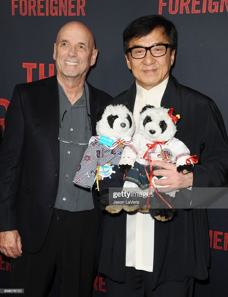 Director Martin Campbell and actor Jackie Chan attend the premiere of 'The Foreigner' at ArcLight Hollywood on October 5, 2017 in Hollywood, California.