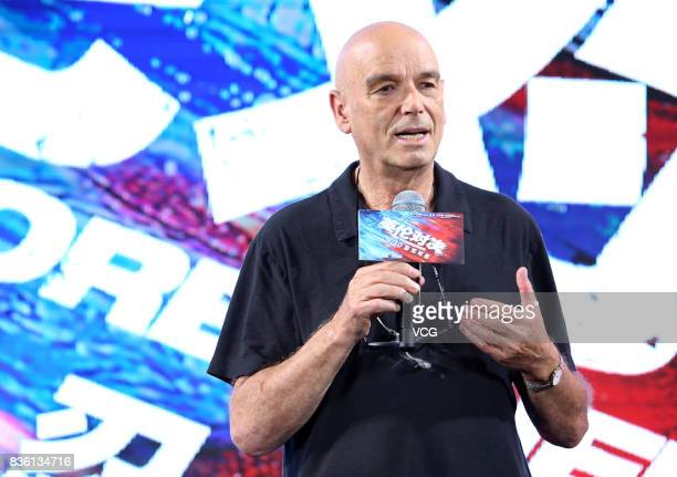 Director Martin Campbell attends 'The Foreigner' press conference on August 21 2017 in Beijing China