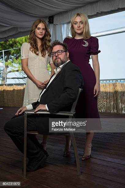 Director Martin Koolhoven and actresses Emilia Jones and Dakota Fanning are photographed for Self Assignment on September 3 2016 in Venice Italy