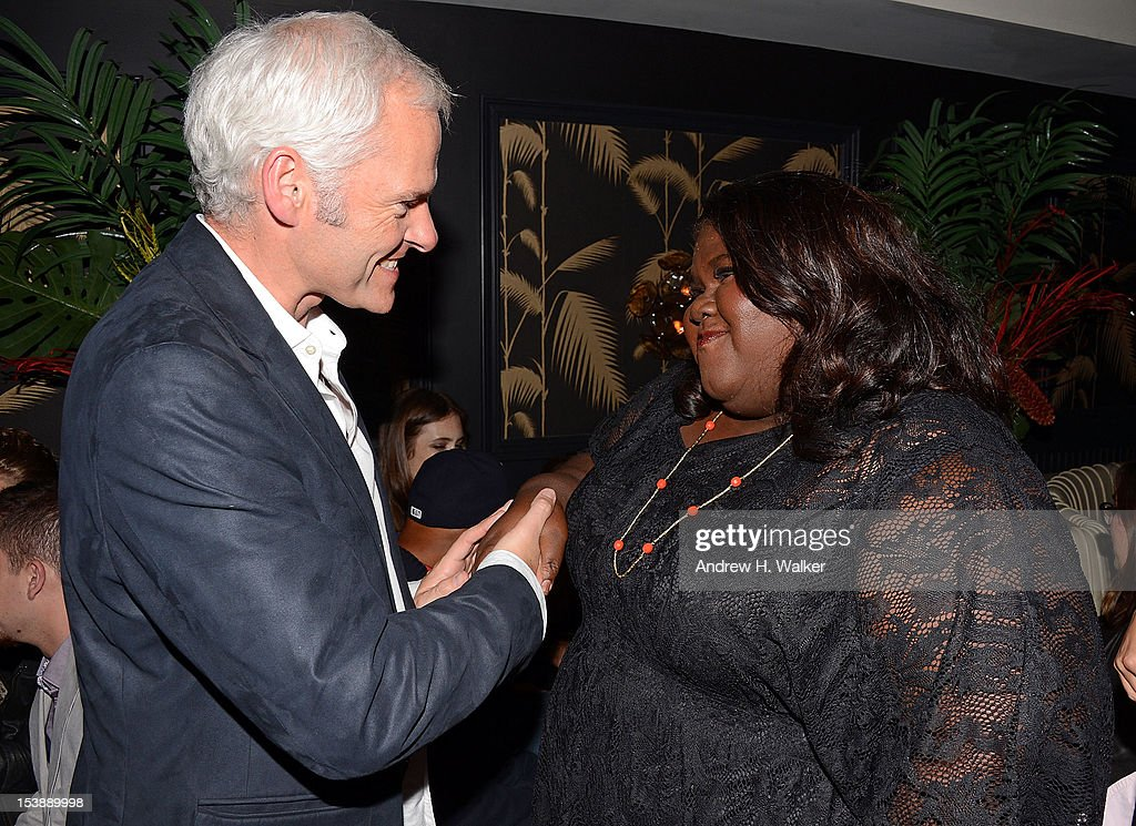 Director <a gi-track='captionPersonalityLinkClicked' href=/galleries/search?phrase=Martin+McDonagh&family=editorial&specificpeople=651423 ng-click='$event.stopPropagation()'>Martin McDonagh</a> and actress Gabby Sidibe attend The Cinema Society and CBS Films screening of 'Seven Psychopaths' After Party at No. 8 on October 10, 2012 in New York City.