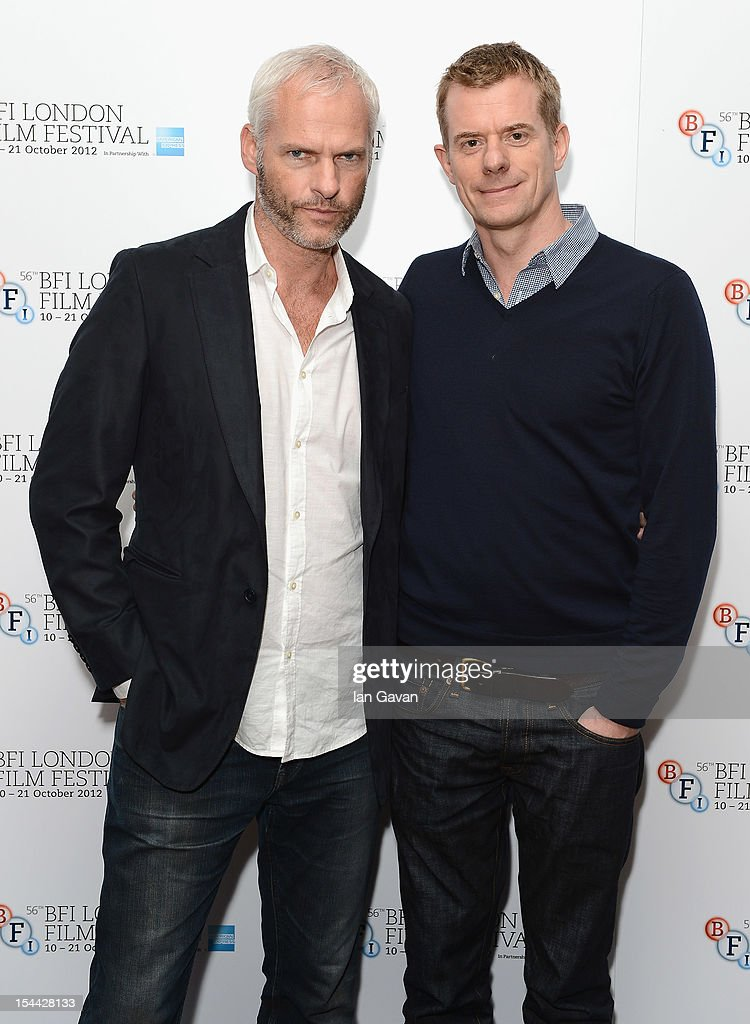 Director Martin McDonagh and producer Graham Broadbent attend the 'Seven Psychopaths' premiere during the 56th BFI London Film Festival at the Odeon West End on October 19, 2012 in London, England.