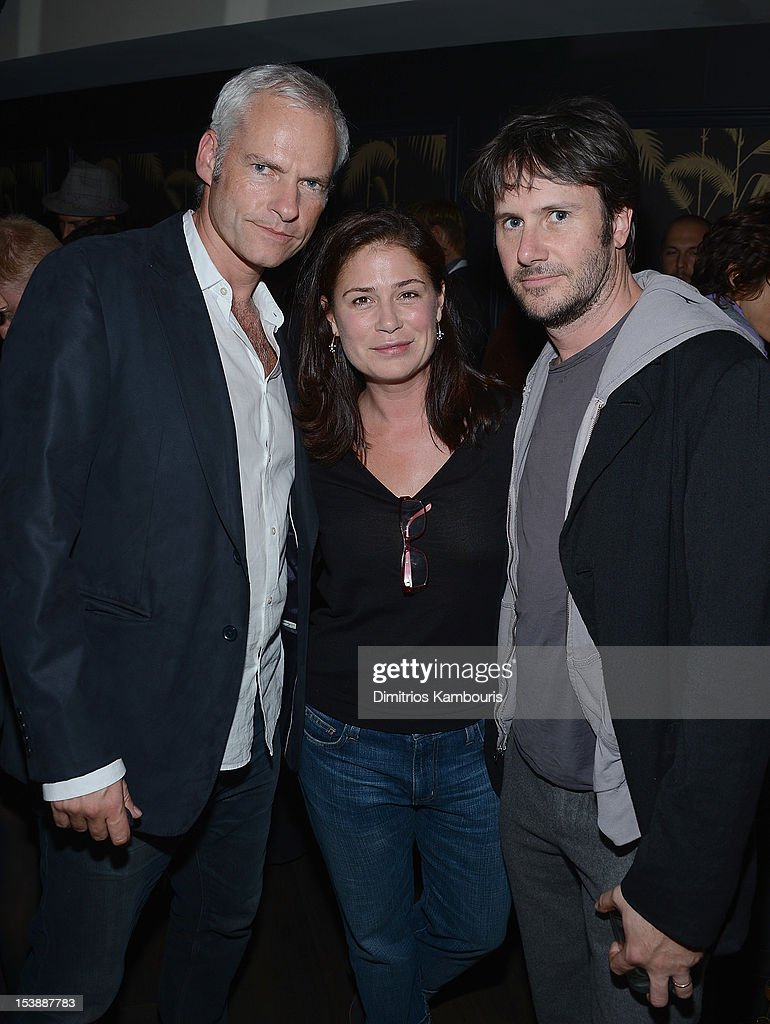 Director <a gi-track='captionPersonalityLinkClicked' href=/galleries/search?phrase=Martin+McDonagh&family=editorial&specificpeople=651423 ng-click='$event.stopPropagation()'>Martin McDonagh</a>, <a gi-track='captionPersonalityLinkClicked' href=/galleries/search?phrase=Maura+Tierney&family=editorial&specificpeople=228416 ng-click='$event.stopPropagation()'>Maura Tierney</a> and Josh Hamilton attend The Cinema Society with Hugo Boss and Appleton Estate screening of 'Seven Psychopaths' at No. 8 on October 10, 2012 in New York City.