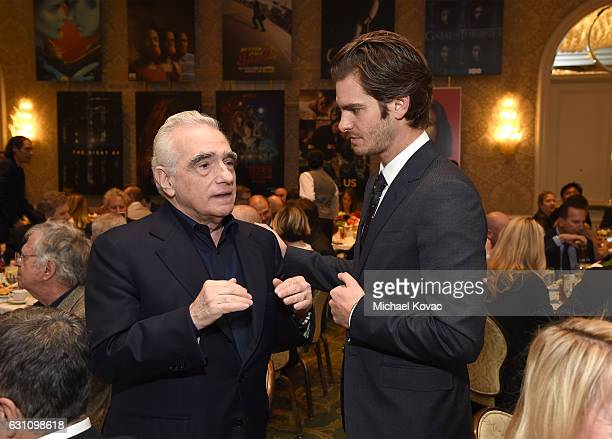 Director Martin Scorsese and actor Andrew Garfield attend the 17th annual AFI Awards at Four Seasons Los Angeles at Beverly Hills on January 6 2017...