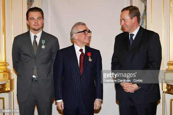 Director Martin Scorsese and actor Leonardo DiCaprio are honored by French Culture Minister Renaud Donnedieu de Vabres by respectively receiving the...