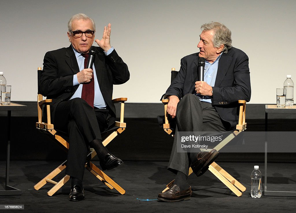 Director <a gi-track='captionPersonalityLinkClicked' href=/galleries/search?phrase=Martin+Scorsese&family=editorial&specificpeople=201976 ng-click='$event.stopPropagation()'>Martin Scorsese</a> and actor <a gi-track='captionPersonalityLinkClicked' href=/galleries/search?phrase=Robert+De+Niro&family=editorial&specificpeople=201673 ng-click='$event.stopPropagation()'>Robert De Niro</a> speak on stage at 'The King of Comedy' Closing Night Screening Gala during the 2013 Tribeca Film Festival on April 27, 2013 in New York City.