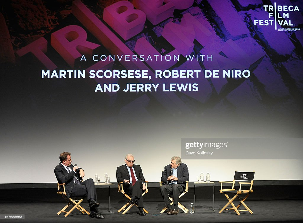 Director <a gi-track='captionPersonalityLinkClicked' href=/galleries/search?phrase=Martin+Scorsese&family=editorial&specificpeople=201976 ng-click='$event.stopPropagation()'>Martin Scorsese</a>, and actor <a gi-track='captionPersonalityLinkClicked' href=/galleries/search?phrase=Robert+De+Niro&family=editorial&specificpeople=201673 ng-click='$event.stopPropagation()'>Robert De Niro</a> speak onstage at 'The King Of Comedy' closing night screening during the 2013 Tribeca Film Festival on April 27, 2013 in New York City.