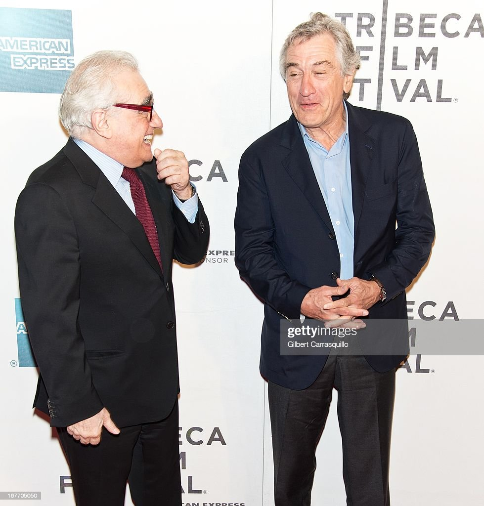 Director <a gi-track='captionPersonalityLinkClicked' href=/galleries/search?phrase=Martin+Scorsese&family=editorial&specificpeople=201976 ng-click='$event.stopPropagation()'>Martin Scorsese</a> and Co-Founder Tribeca Film Festival <a gi-track='captionPersonalityLinkClicked' href=/galleries/search?phrase=Robert+De+Niro&family=editorial&specificpeople=201673 ng-click='$event.stopPropagation()'>Robert De Niro</a> attend the closing night screening of 'The King of Comedy' during the 2013 Tribeca Film Festival at BMCC Tribeca PAC on April 27, 2013 in New York City.