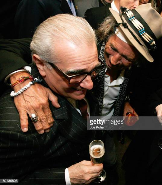 NEW YORK MARCH 30 Director Martin Scorsese and Guitarist Keith Richards attend the Daily Variety Gotham's 10th Anniversary party on March 30 2008 in...