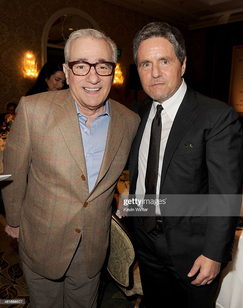 Director <a gi-track='captionPersonalityLinkClicked' href=/galleries/search?phrase=Martin+Scorsese&family=editorial&specificpeople=201976 ng-click='$event.stopPropagation()'>Martin Scorsese</a> (L) and Paramount Pictures Chairman/CEO <a gi-track='captionPersonalityLinkClicked' href=/galleries/search?phrase=Brad+Grey&family=editorial&specificpeople=220255 ng-click='$event.stopPropagation()'>Brad Grey</a> attend the 14th annual AFI Awards Luncheon at the Four Seasons Hotel Beverly Hills on January 10, 2014 in Beverly Hills, California.