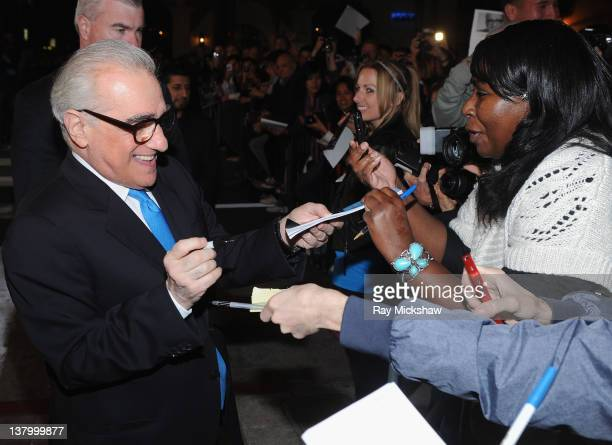 Director Martin Scorsese arrives on the red carpet before the American Riviera Award Tribute to Martin Scorsese held at the Arlington Theatre on...