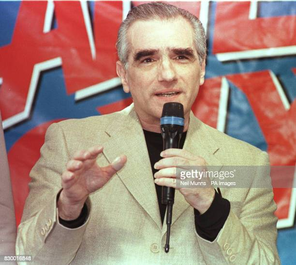 Director Martin Scorsese at a press conference at Planet Hollywood in Cannes France where he announced a special partnership between planet Holywood...