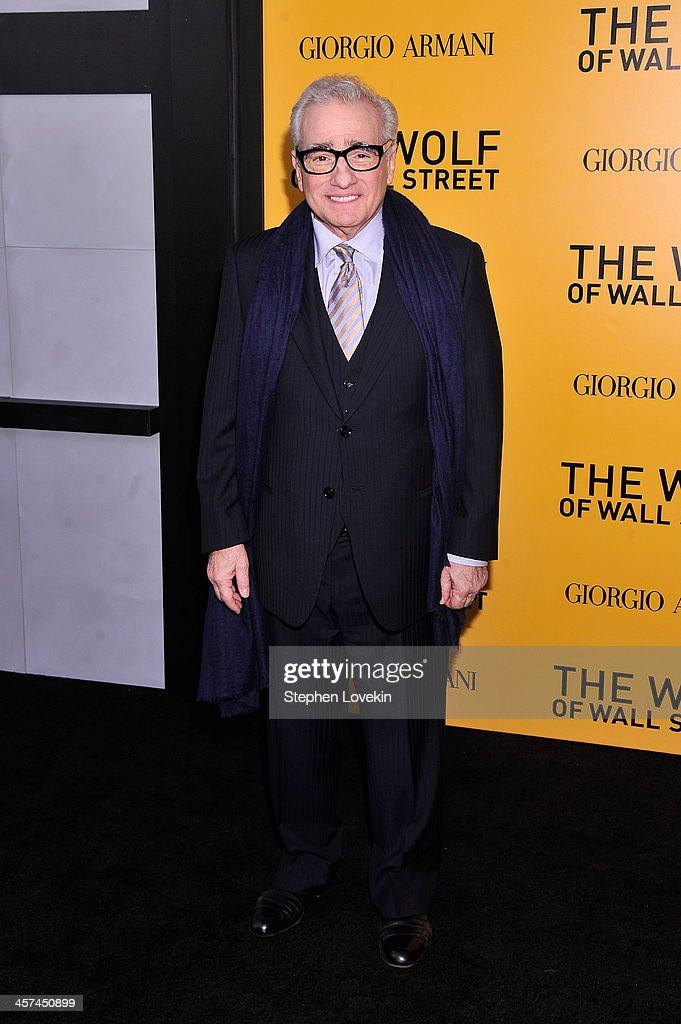 Director <a gi-track='captionPersonalityLinkClicked' href=/galleries/search?phrase=Martin+Scorsese&family=editorial&specificpeople=201976 ng-click='$event.stopPropagation()'>Martin Scorsese</a> attends Giorgio Armani Presents: 'The Wolf Of Wall Street' world premiere at the Ziegfeld Theatre on December 17, 2013 in New York City.