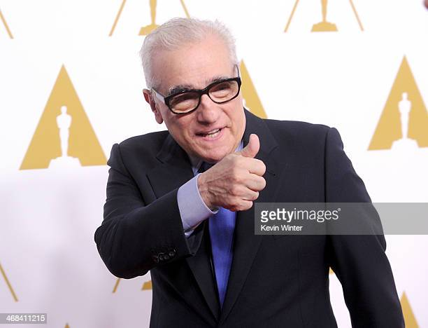 Director Martin Scorsese attends the 86th Academy Awards nominee luncheon at The Beverly Hilton Hotel on February 10 2014 in Beverly Hills California