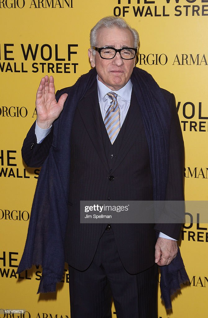 Director <a gi-track='captionPersonalityLinkClicked' href=/galleries/search?phrase=Martin+Scorsese&family=editorial&specificpeople=201976 ng-click='$event.stopPropagation()'>Martin Scorsese</a> attends the 'The Wolf Of Wall Street' premiere at Ziegfeld Theater on December 17, 2013 in New York City.