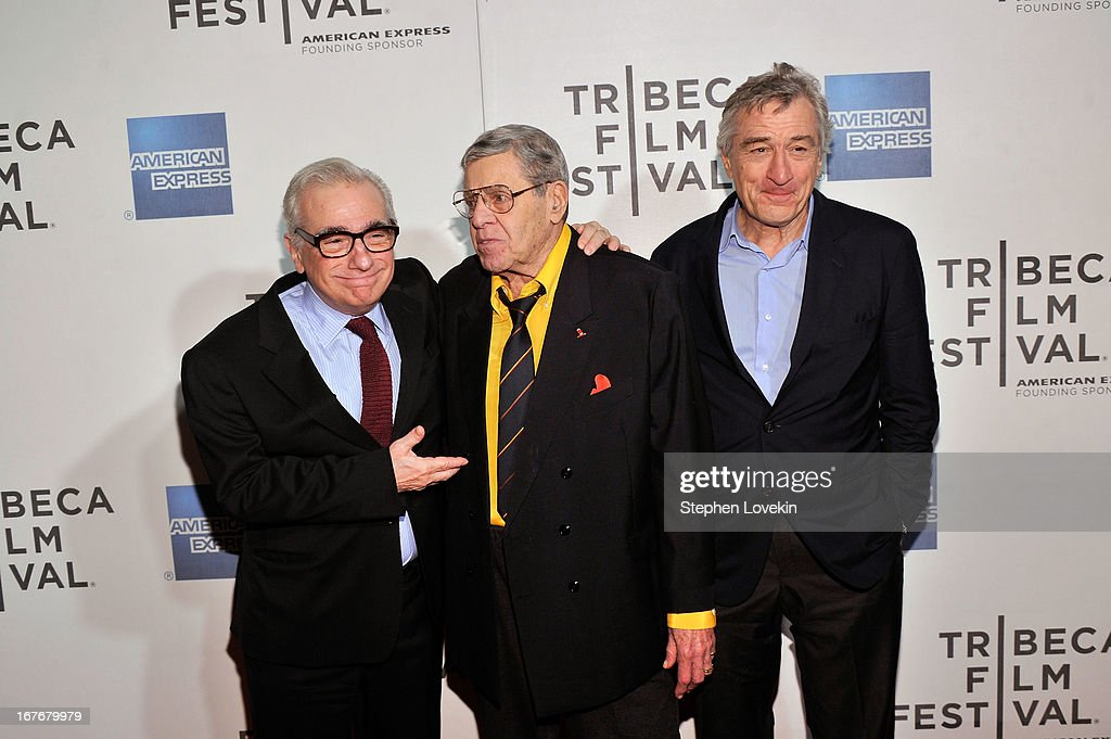 Director <a gi-track='captionPersonalityLinkClicked' href=/galleries/search?phrase=Martin+Scorsese&family=editorial&specificpeople=201976 ng-click='$event.stopPropagation()'>Martin Scorsese</a>, comedian <a gi-track='captionPersonalityLinkClicked' href=/galleries/search?phrase=Jerry+Lewis+-+Comedian&family=editorial&specificpeople=202947 ng-click='$event.stopPropagation()'>Jerry Lewis</a>, and actor <a gi-track='captionPersonalityLinkClicked' href=/galleries/search?phrase=Robert+De+Niro&family=editorial&specificpeople=201673 ng-click='$event.stopPropagation()'>Robert De Niro</a> attend 'The King of Comedy' Closing Night Screening Gala during the 2013 Tribeca Film Festival on April 27, 2013 in New York City.