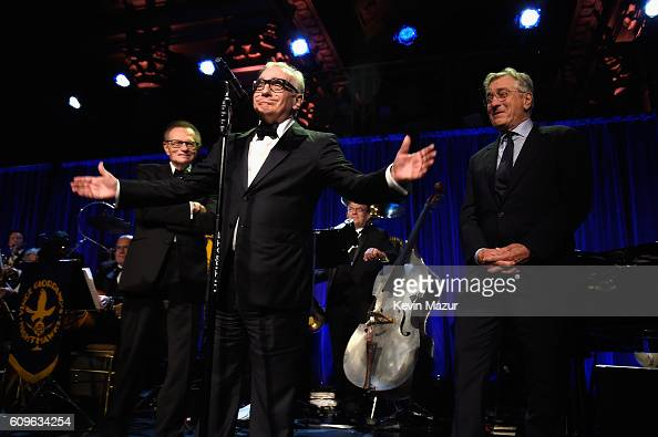 Director Martin Scorsese speaks onstage at the Friars Club Honoring Martin Scorsese With the Entertainment Icon Award at Cipriani Wall Street on...