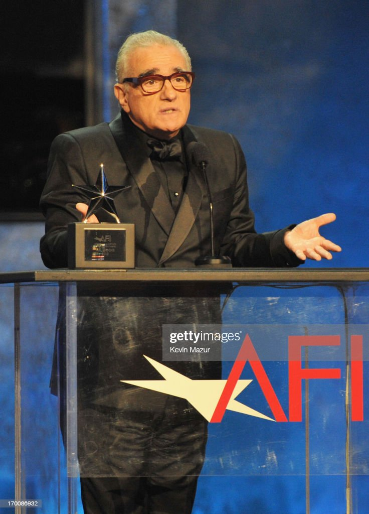 Director <a gi-track='captionPersonalityLinkClicked' href=/galleries/search?phrase=Martin+Scorsese&family=editorial&specificpeople=201976 ng-click='$event.stopPropagation()'>Martin Scorsese</a> speaks onstage during AFI's 41st Life Achievement Award Tribute to Mel Brooks at Dolby Theatre on June 6, 2013 in Hollywood, California. 23647_004_KM_1721.JPG