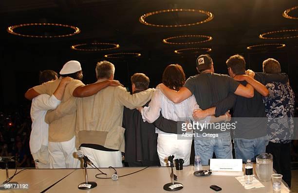 Director Martin Wood actor Christopher Judge actor Richard Dean Anderson producer Brad Wright actress Amanda Tapping actor Michael Shanks actor Ben...