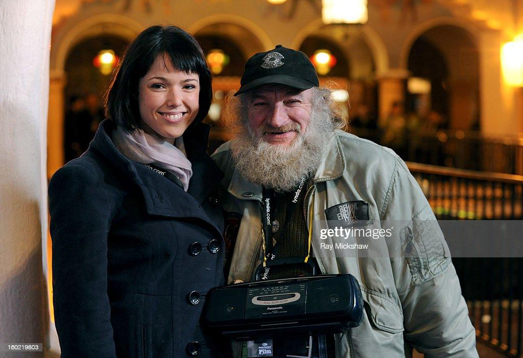 Director Mary Kerr and Radioman (R) attend the screening of 'Radioman' at the 28th Santa Barbara International Film Festival on January 27, 2013 in Santa Barbara, California.