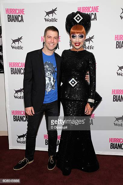 Director Matt Kugelman and Bianca Del Rio attend the 'Hurricane Bianca' New York Premiere at DGA Theater on September 19 2016 in New York City