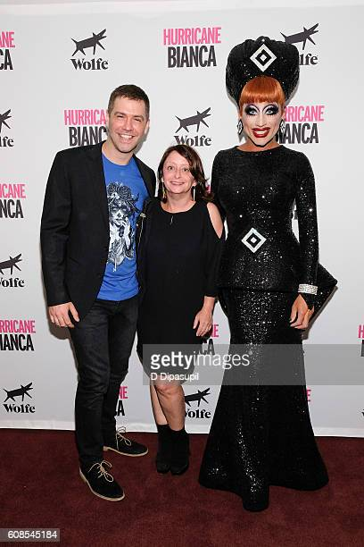 Director Matt Kugelman Rachel Dratch and Bianca Del Rio attend the 'Hurricane Bianca' New York Premiere at DGA Theater on September 19 2016 in New...