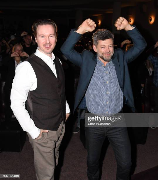 Director Matt Reeves and actor Andy Serkis seen introducing ÔPlanet der Affen SurvivalÕ at the Astor Theater on June 23 2017 in Berlin Germany