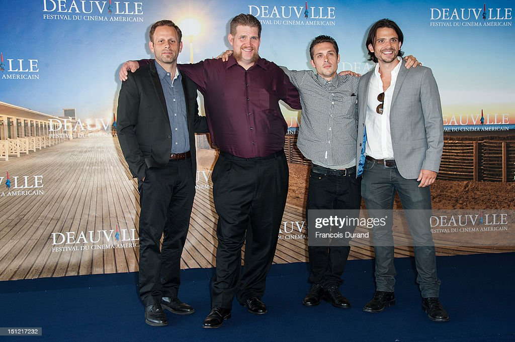 Director Matt Ruskin, actors Adam DuPaul and Nico Stone and producer Troy Johanson attend the 'Booster' Photocall during the 38th Deauville American Film Festival on September 4, 2012 in Deauville, France.
