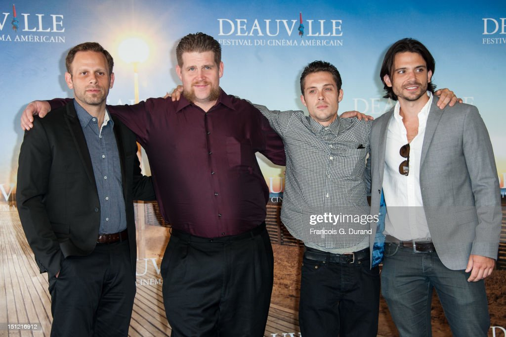 Director Matt Ruskin, actors Adam DuPaul, Nico Stone and producer Troy Johanson attend the 'Booster' Photocall during the 38th Deauville American Film Festival on September 4, 2012 in Deauville, France.