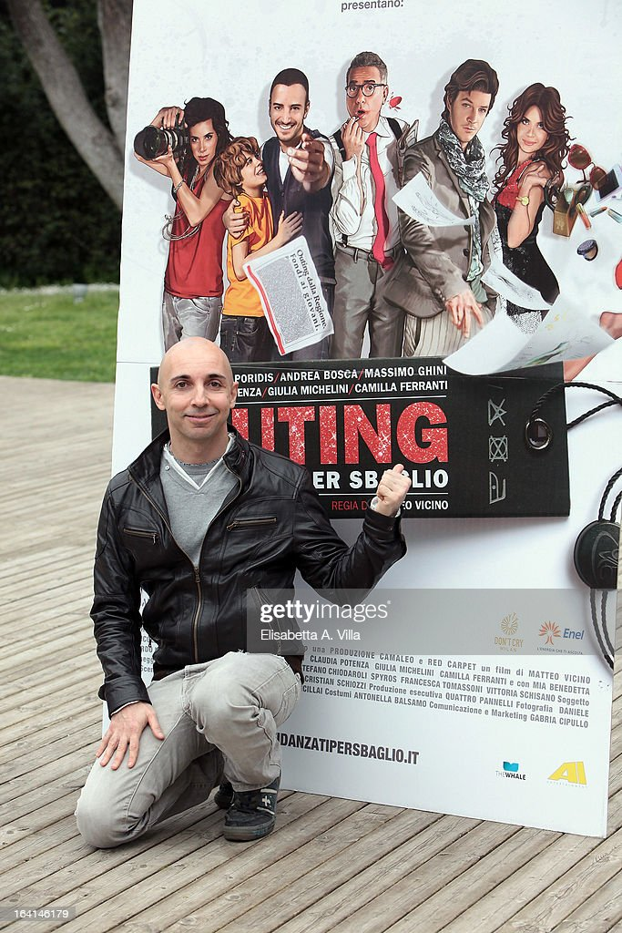 Director Matteo Vicino attends 'Outing Fidanzati Per Sbaglio' photocall at Casa del Cinema on March 20, 2013 in Rome, Italy.