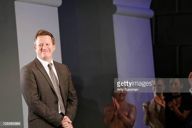 Director Matthew Bourne attends curtain call at the first gala performance of the New York return of Matthew Bourne's 'Swan Lake' at New York City...