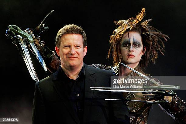 Director Matthew Bourne poses with dancer Matthew Malthouse during a press call for his latest stage production of 'Edward Scissorhands' at the...