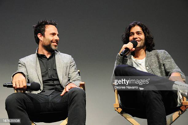 Director Matthew Cooke and producer/actor Adrian Grenier attend Meet the Filmmaker 'How to Make Money Selling Drugs' during the 2013 Tribeca Film...