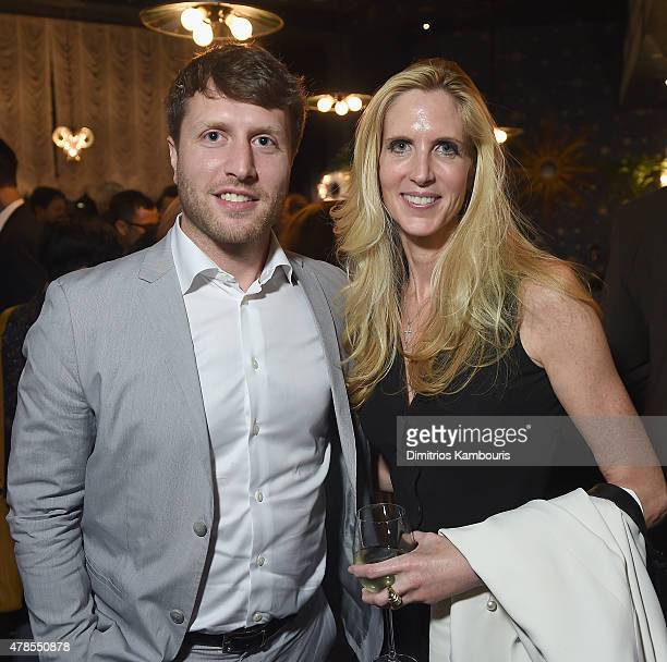 Director Matthew Heineman and Ann Coulter attend The Orchard And The Cinema Society Host A Special Screening Of 'Cartel Land' after party at Tribeca...