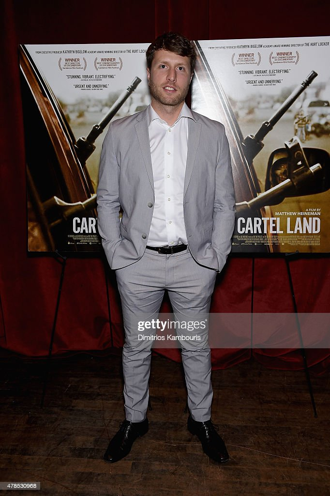 Director Matthew Heineman attends Seth Meyers with the Orchard and the Cinema Society Host a Special Screening of 'Cartel Land' at Tribeca Grand Hotel on June 25, 2015 in New York City.