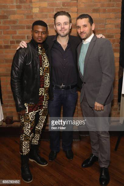 Director Matthew Newton Actor Jamal MalloryMcCree and guest attend the Special Screening Of FilmRise's 'From Nowhere' at Tribeca Screening Room on...