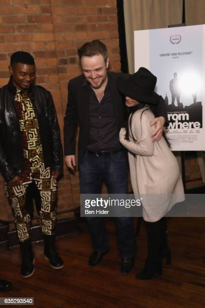 Director Matthew Newton Actor Jamal MalloryMcCree and Raquel Castro attend the Special Screening Of FilmRise's 'From Nowhere' at Tribeca Screening...