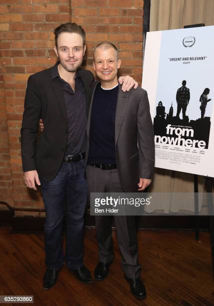 Director Matthew Newton and actor Jim Norton attend the Special Screening Of FilmRise's 'From Nowhere' at Tribeca Screening Room on February 13 2017...