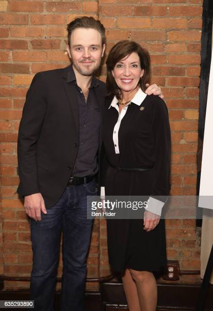 Director Matthew Newton and Lieutenant Governor of New York Kathy Hochul attend the Special Screening Of FilmRise's 'From Nowhere' at Tribeca...