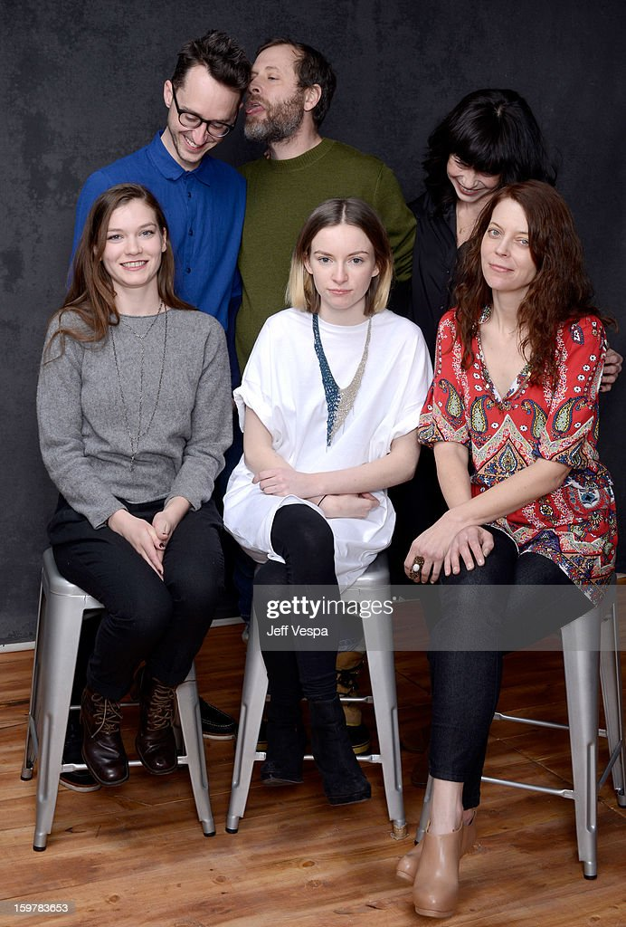 Director Matthew Porterfield, actor Ned Oldham, writer Amy Belk, actresses Hannah Gross, Deragh Campbell, and Kim Taylor pose for a portrait during the 2013 Sundance Film Festival at the WireImage Portrait Studio at Village At The Lift on January 20, 2013 in Park City, Utah.